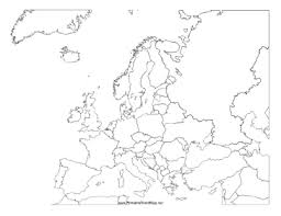 blank map of europe blank map