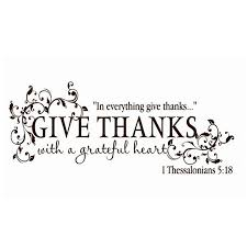give thanks with a grateful thanksgiving vinyl wall