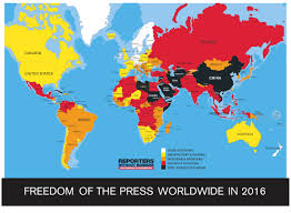 Map Of The Middle East And Africa by 2016 World Press Freedom Index U2013 Leaders Paranoid About
