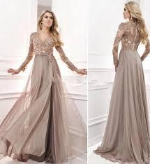 anti vintage 2017 evening dress with long sleeves arabic muslim