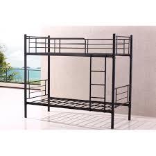 Bunk Beds Metal Frame Stylish Single Sturdy Black Metal Bunk Bed Frame Heavy Duty Quidin