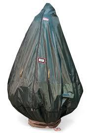 upright tree storage bag with stand in tree storage