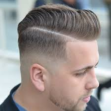 long textured pompadour skin fade men fresh haircuts 2017