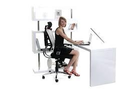 bureau design noir laqué design d intérieur bureau design noir laque blanc laquac amovible