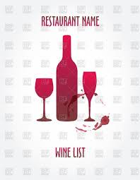 wine silhouette silhouette of wine bottle and glasses vector clipart image 60401