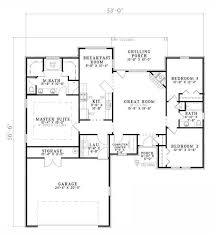 ranch floor plans with split bedrooms 65 best houseplans images on house plans house