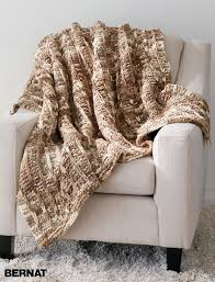 Knit Home Decor Bernat Slip Stitch Blanket Knit Pattern Yarnspirations