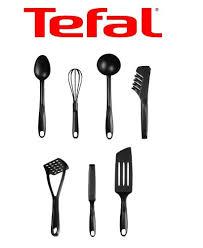 ustensil de cuisine téfal bienvenue lot de 7 ustensiles de cuisine plastique noir