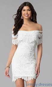 graduation dresses for the shoulder lace graduation dress