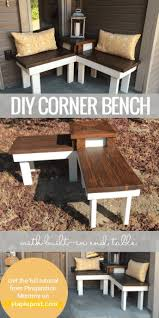 bench outdoor corner bench with cushions seating plans shower