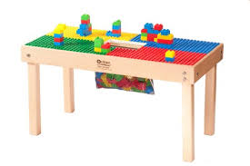 duplo table with chairs amazon com heavy duty duplo compatible table with built in