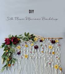diy photo backdrop diy silk floral macramé backdrop green wedding shoes