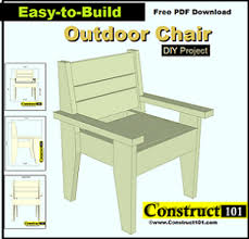 Free Plans For Garden Furniture by Patio Chair Building Plans Outdoor Lawn Chair