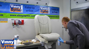 how to spray a leather car seat youtube
