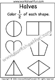 fractions u2013 halves free printable worksheets u2013 worksheetfun