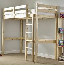 Loft Bed Espace Loggia Icarus 4ft 6 Double Heavy Duty Solid Pine High Sleeper Bunk Bed