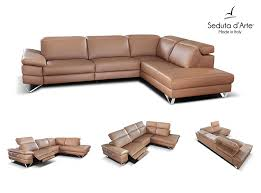 awesome modern reclining sectional sofa alba modern sectional sofa