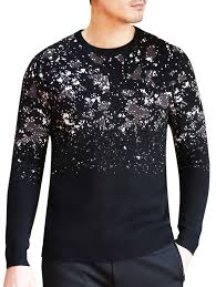cardigans sweaters black 3xl camouflage crew neck sweater gamiss