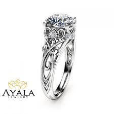 cushion cut diamond engagement rings cushion cut diamond engagement ring 14k white gold cushion cut