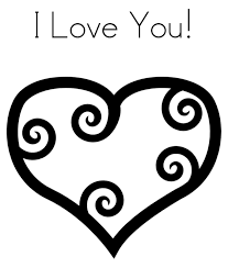 heart i love you valentine coloring page valentine coloring