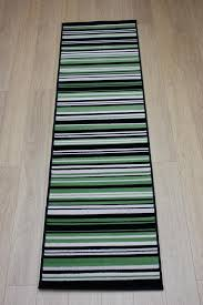Striped Runner Rug Element Canterbury Green Black Stripes Rug Buy Rugs Online In The Uk