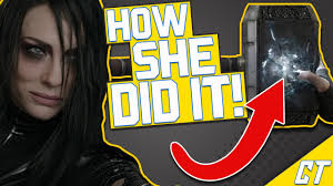 how hela broke mjolnir in thor ragnarok youtube