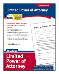 Durable Limited Power Of Attorney by Amazon Com Adams Limited Power Of Attorney Forms And