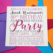 Personalised Birthday Invitation Cards Personalised Birthday Enagement Wedding Invitations By A Is For