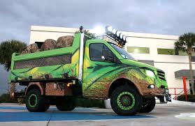 transforming a mercedes into a dump truck medium duty work truck