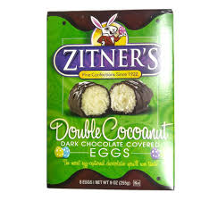 zitner s butter eggs zitner s cocoanut chocolate covered egg box of 8