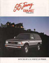 gmc jimmy 1980 1989 s 15 jimmy gmc sales brochure