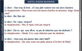booking chambre hote delf conversation hotel reservation