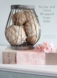 a fun craft use burlap strips or brown packaging twine for more