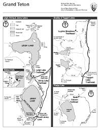 grand map pdf grand teton national park lakeshore hiking map grand teton