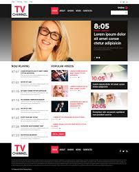 website template 50864 tv channel television custom website