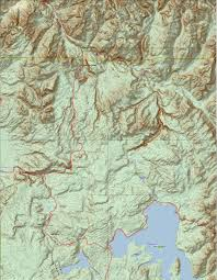 Topographical Map Of United States by Yellowstone National Park Topo Map