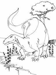 camptosaurus jurassic dinosaur coloring free printable