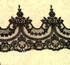 black lace trim quality beaded lace trim black corded lace trim lace hem with