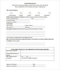 injury incident report form template injury incident report form