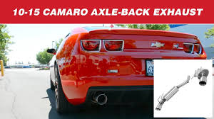 2010 camaro axle back exhaust hurst 304s axle back exhaust system for the 2010 2015 camaro ss