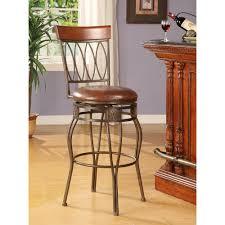 ballard designs constance bentwood stools by ballard designs oval back 30 in matte bronze cushioned bar stool