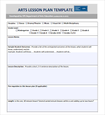 sample lesson plan daily lesson plan template with subject grid