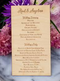 laser cut wedding programs wedding party list wedding wood sign wedding decor wedding