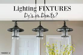Farmhouse Kitchen Light Fixtures Lighting Fixtures Do Or Don T Farmhouse 40
