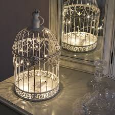 Jelly Jar Light With Cage by Shabby Chic Bird Cage With Warm White Wire Light 36cm Birdcages