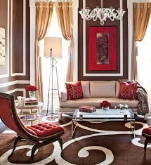 living room with red accents showhouse rooms with red accents traditional home