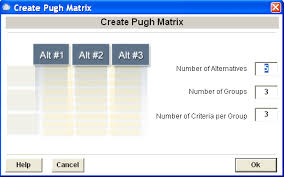 Decision Matrix Excel Template Pugh Concept Generation And Selection In Excel With Snapsheets Xl