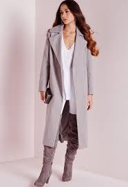 oversized wool coat light grey missguided