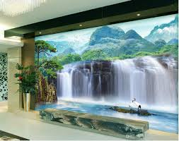 custom any size large waterfall psd tv backdrop mural 3d wallpaper quality customize size modern high quality customize size modern home decor living room natural art fashion decor home decoration wall papers home decor