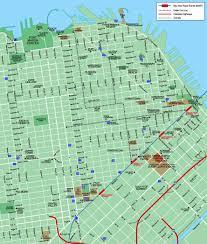 Downtown San Francisco Map by Santanamigos Venues